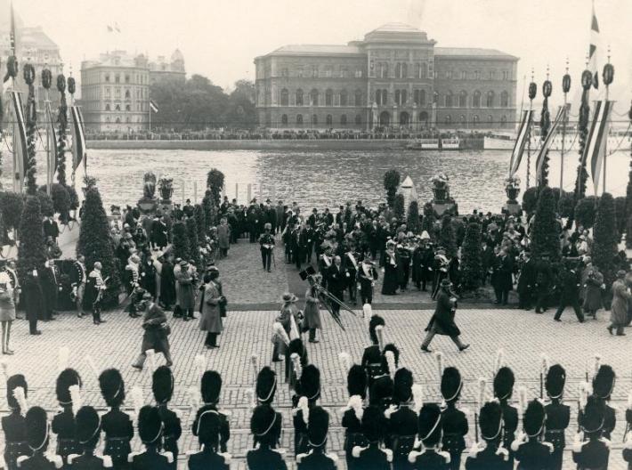 Riigivanem Jaan Tõnisson Rootsis. Foto: Rahvusarhiiv.