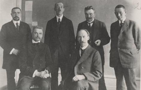 Estlands utlandsdelegation 1918-1919. Foto: Estlands Nationalarkivet.