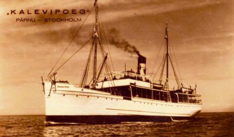 Ångfartyget Kalevipoeg. Foto: Estlands Riksarkivet.