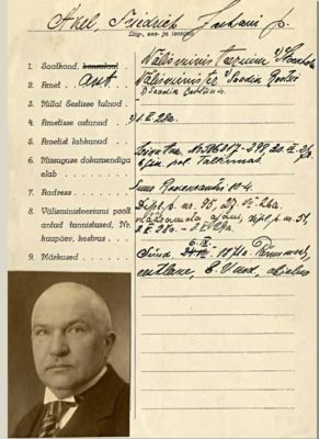 Friedrich Karl Akels diplomatiska pass. Foto: Estlands Riksarkivet.