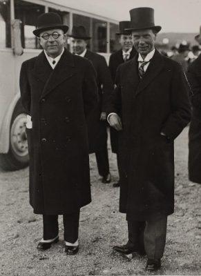 Julius Seljamaa och Rickard Sandler. Foto: Estlands Nationalarkivet.