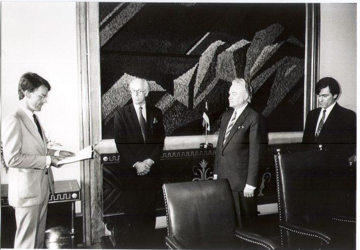 Lars Arne Grundberg volikirjade üleandmise tseremoonia. Foto: välisministeerium.