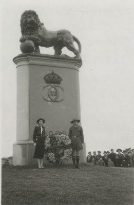Minnesmonumentet kung Karl XII i Narva. Foto: Estlands Riksarkivet.