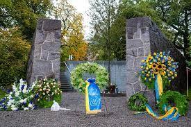 Parvlaev Estonia mälestusmonument Stockholmis Djurgårdenil Stockholmis