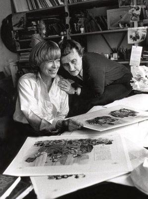 Ilon Wikland och Astrid Lindgren. Foto: Postimees.