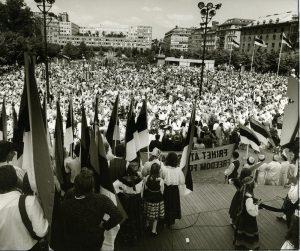 ESTO 80 i Stockholm. Foto: Sverigeesternas Riksförbunds arkiv.