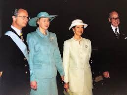 Estlands president Lennart Meri på statsbesök i Sverige. Foto: Sverigeesternas arkivet.