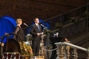 Estlands statsminister Ratas på festivalen Estival i Stockholms stadshus. Foto: Estlands Rergeringskansliet.