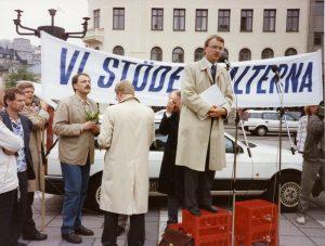 Esmaspäevamiiting Norrmalmstorgil, REL arhiiv