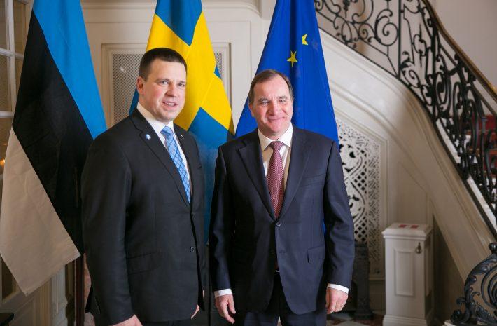 Eesti ja Rootsi peaministri kohtumine. Foto: Riigikantselei.