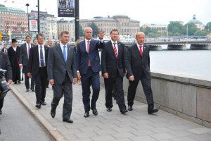 Rootsi, Eesti, Läti ja Leedu peaministrid teel Norrmalmstorile, Erik Peinar