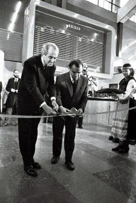 Tallinn-Stockholm lennuliini avamine. Foto: Isi Trapido, Rahvusarhiiv.