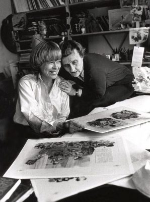 Ilon Wikland ja Astrid Lindgren. Foto: Postimees