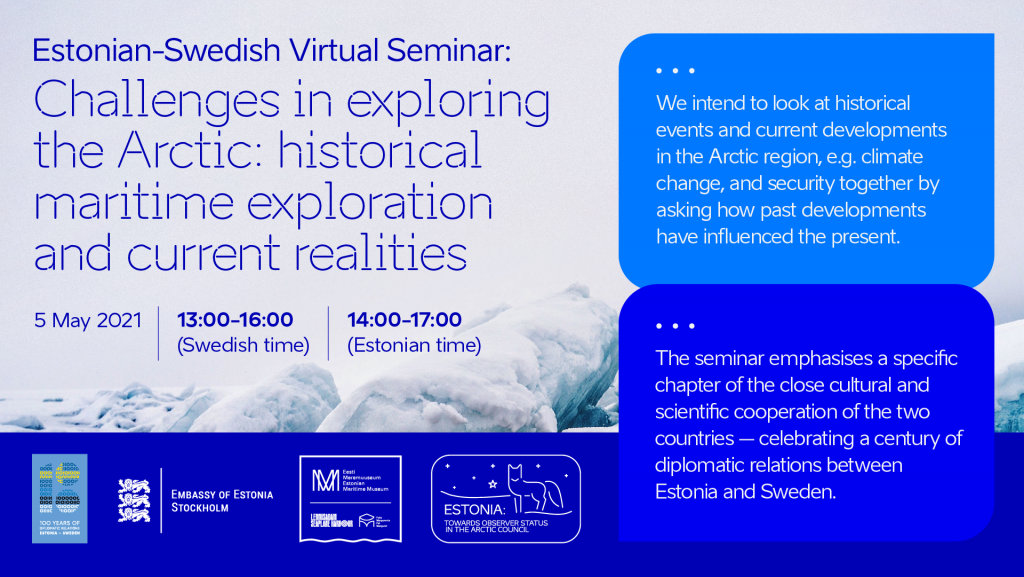 Estonian-Swedish Virtual Seminar: Challenges in exploring the Arctic: historical maritime exploration and current realities